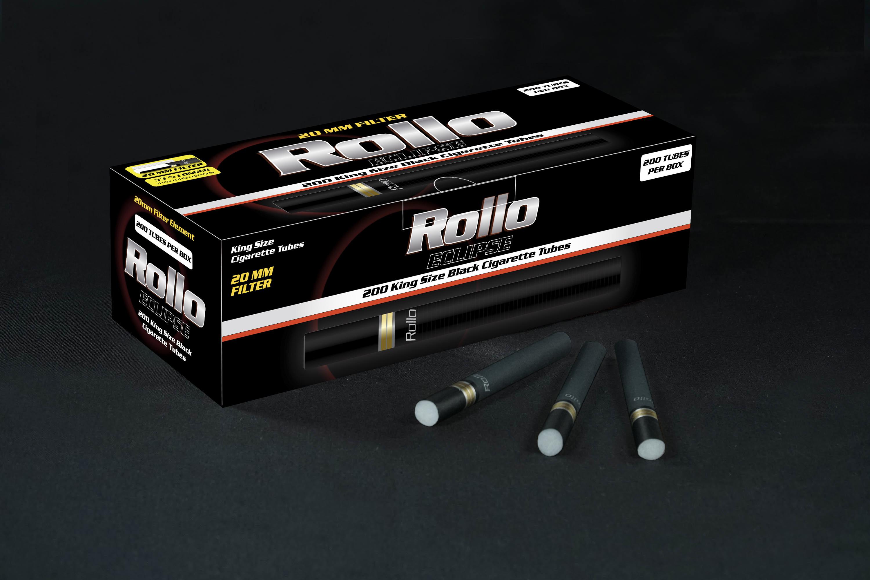 Black Cigarette Tubes Rollo Eclipse 200 CT
