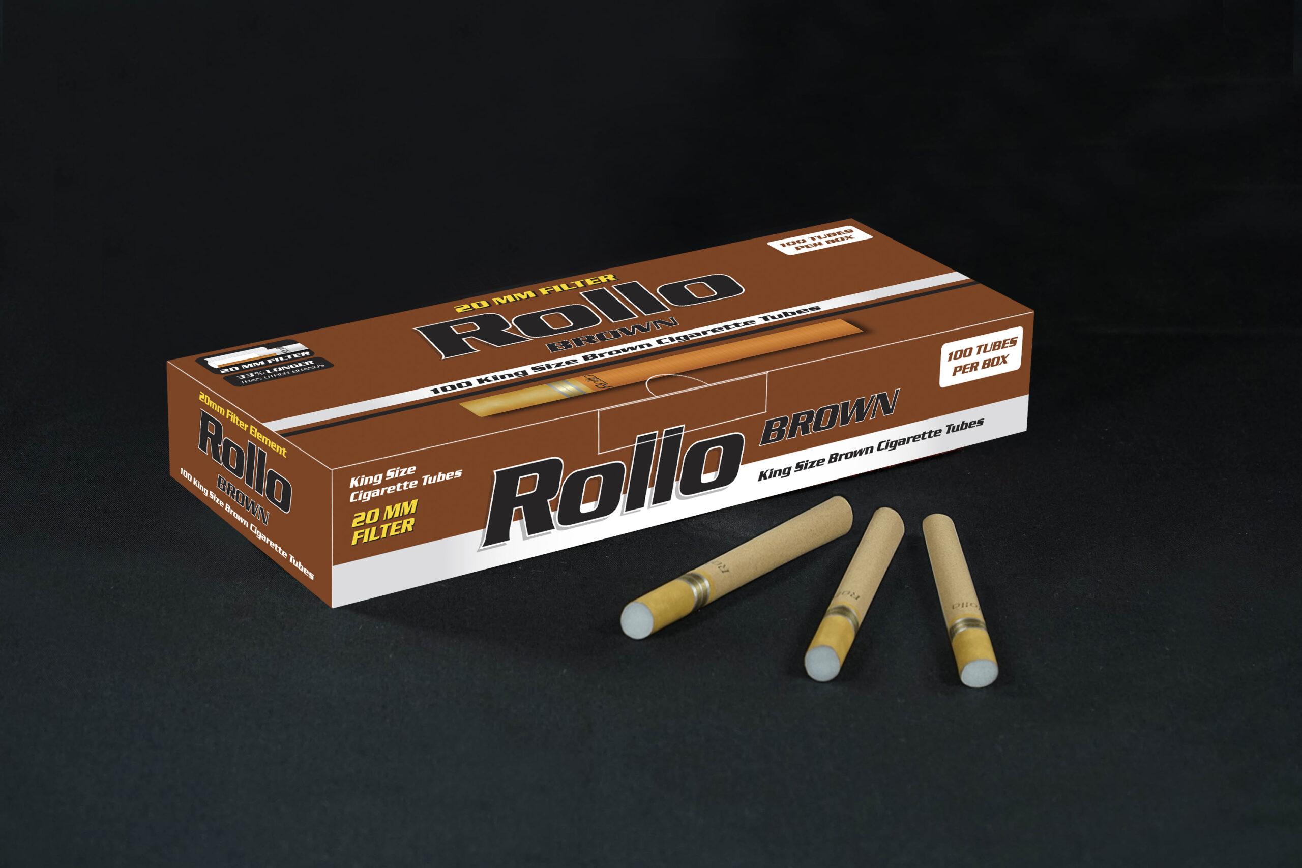 Brown Cigarette Tubes Rollo Brown 100 CT