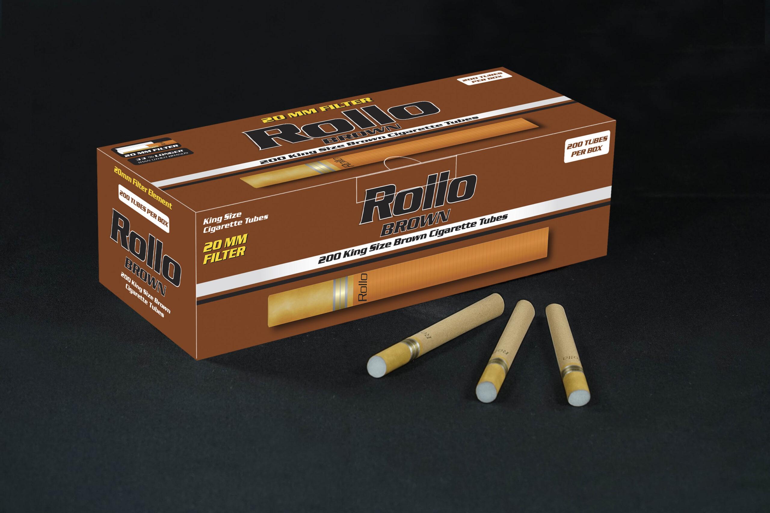 Brown Cigarette Tubes Rollo Brown 200 CT