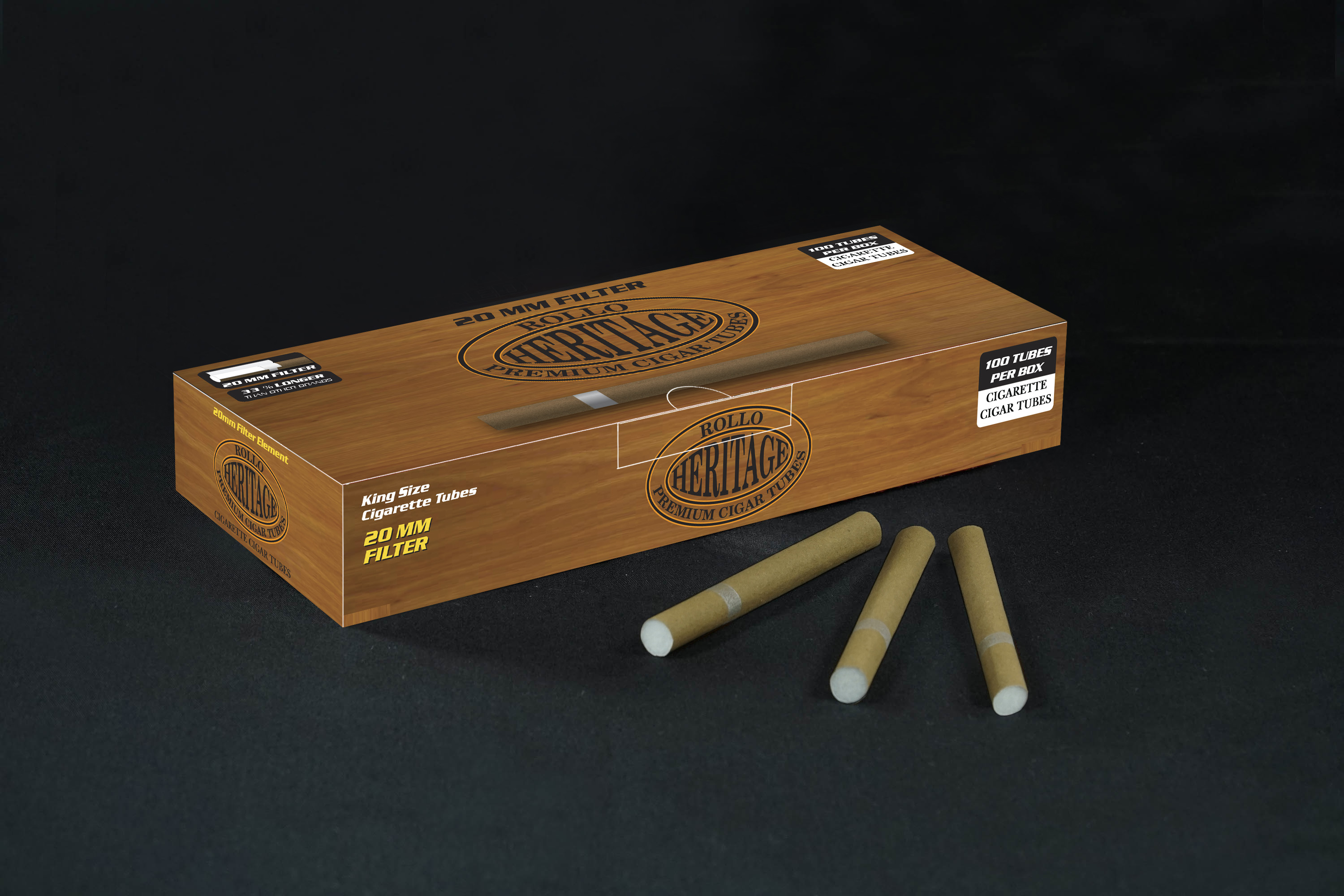 Cigar Tubes Rollo Heritage 100 CT
