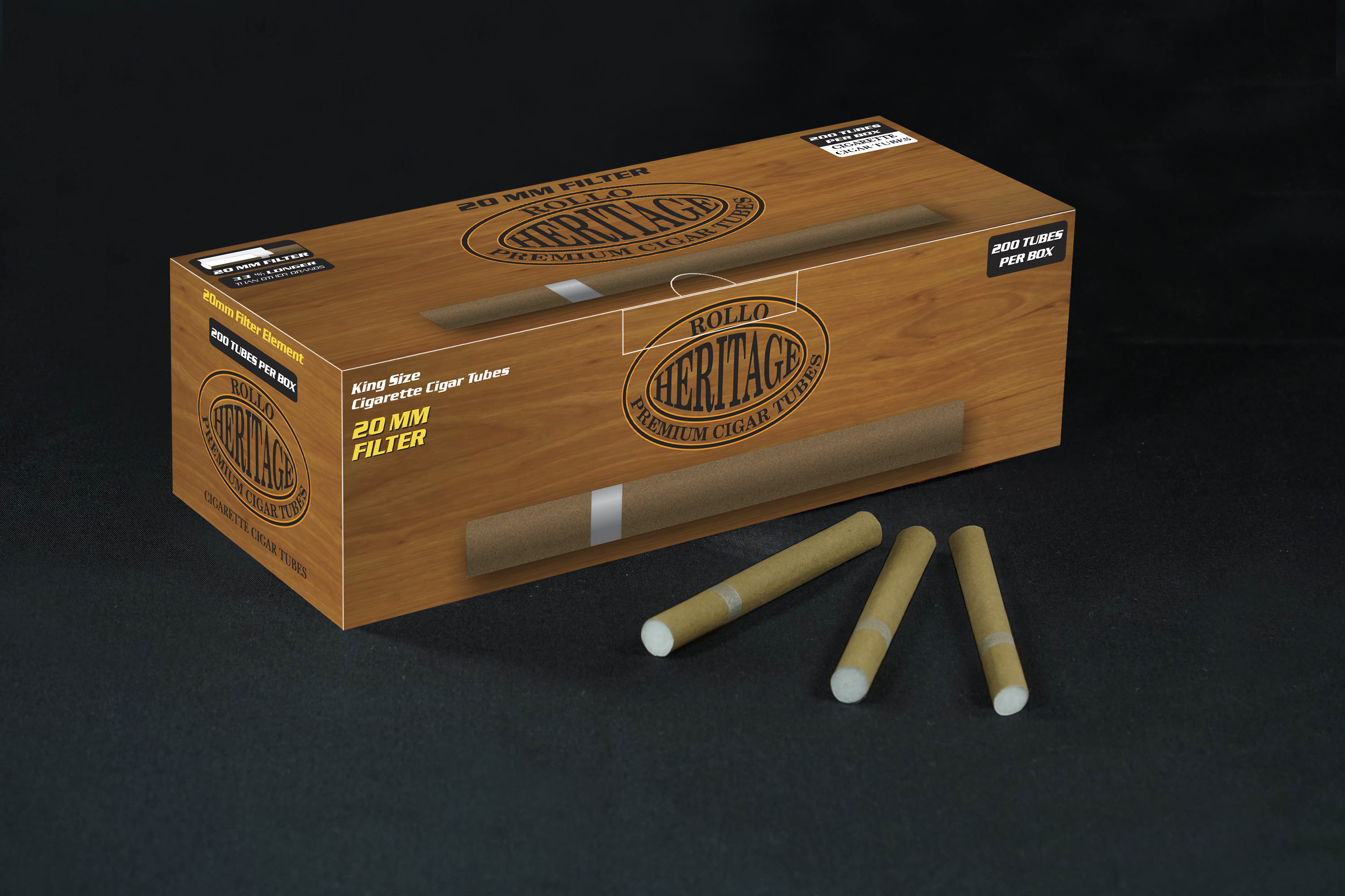 Cigar Tubes Rollo Heritage 200 CT