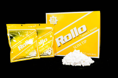 Cigarette Rolling Paper Filter Tips Slim Rollo Yellow 7mm x 15mm
