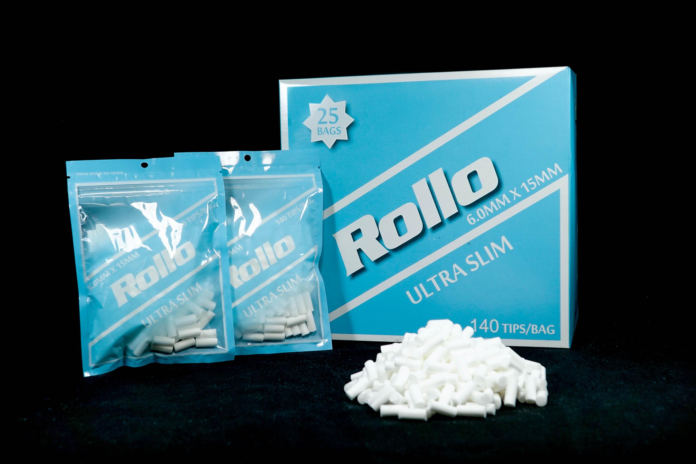 Cigarette Rolling Paper Filter Tips Ultra Slim Rollo 6mm x 15mm