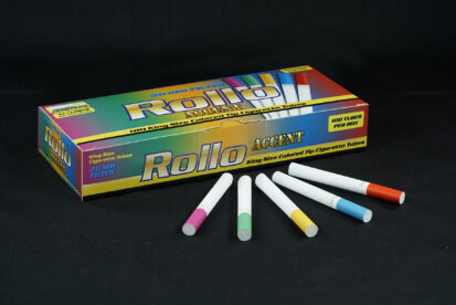 Cigarette Tubes w/ Multi-colored Tipping Paper Rollo Accent 100 CT