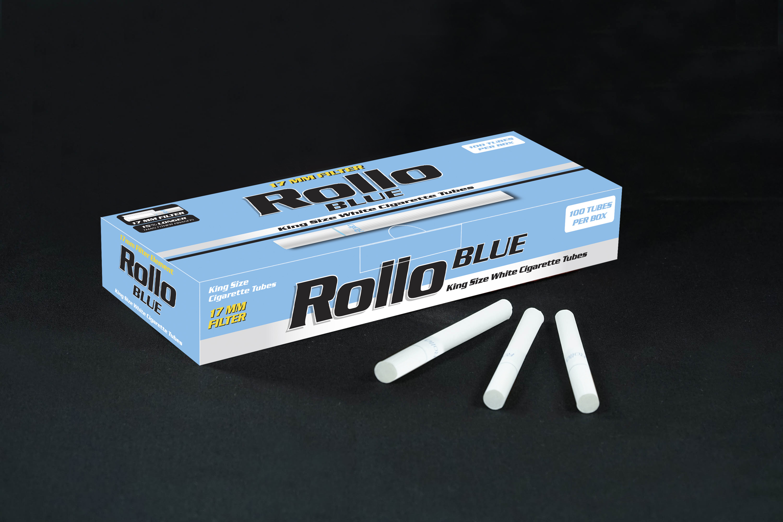 Cigarette Tubes Rollo Blue 100 CT 17mm filter length