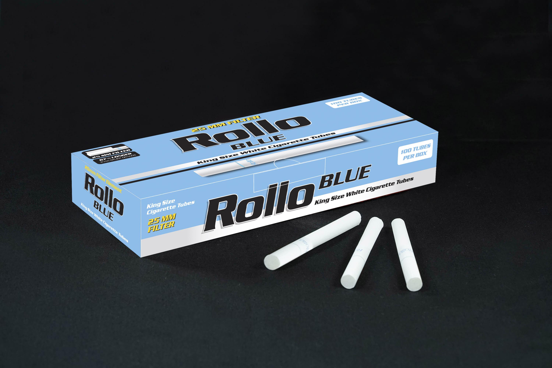 Cigarette Tubes Rollo Blue 100 CT 25mm filter length