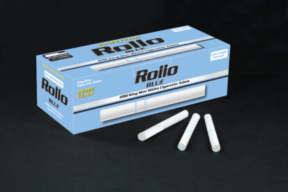 Cigarette Tubes Rollo Blue 200 CT 20mm filter length