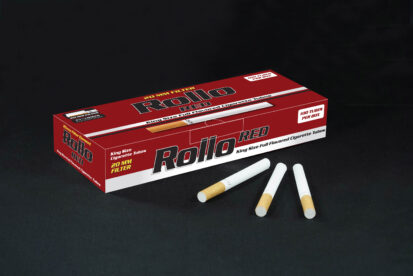 Cigarette Tubes Rollo Red 100 CT 20mm filter length