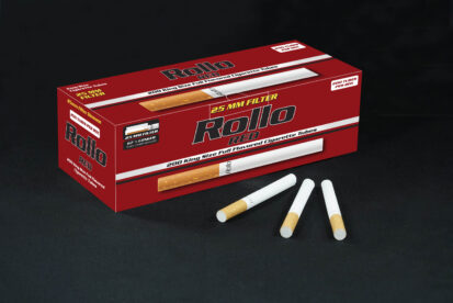 Cigarette Tubes Rollo Red 200 CT 25mm filter length