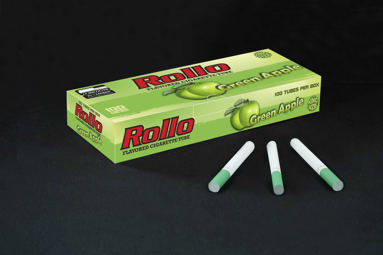 Flavoured Cigarette Tubes Rollo Green Apple 100 CT
