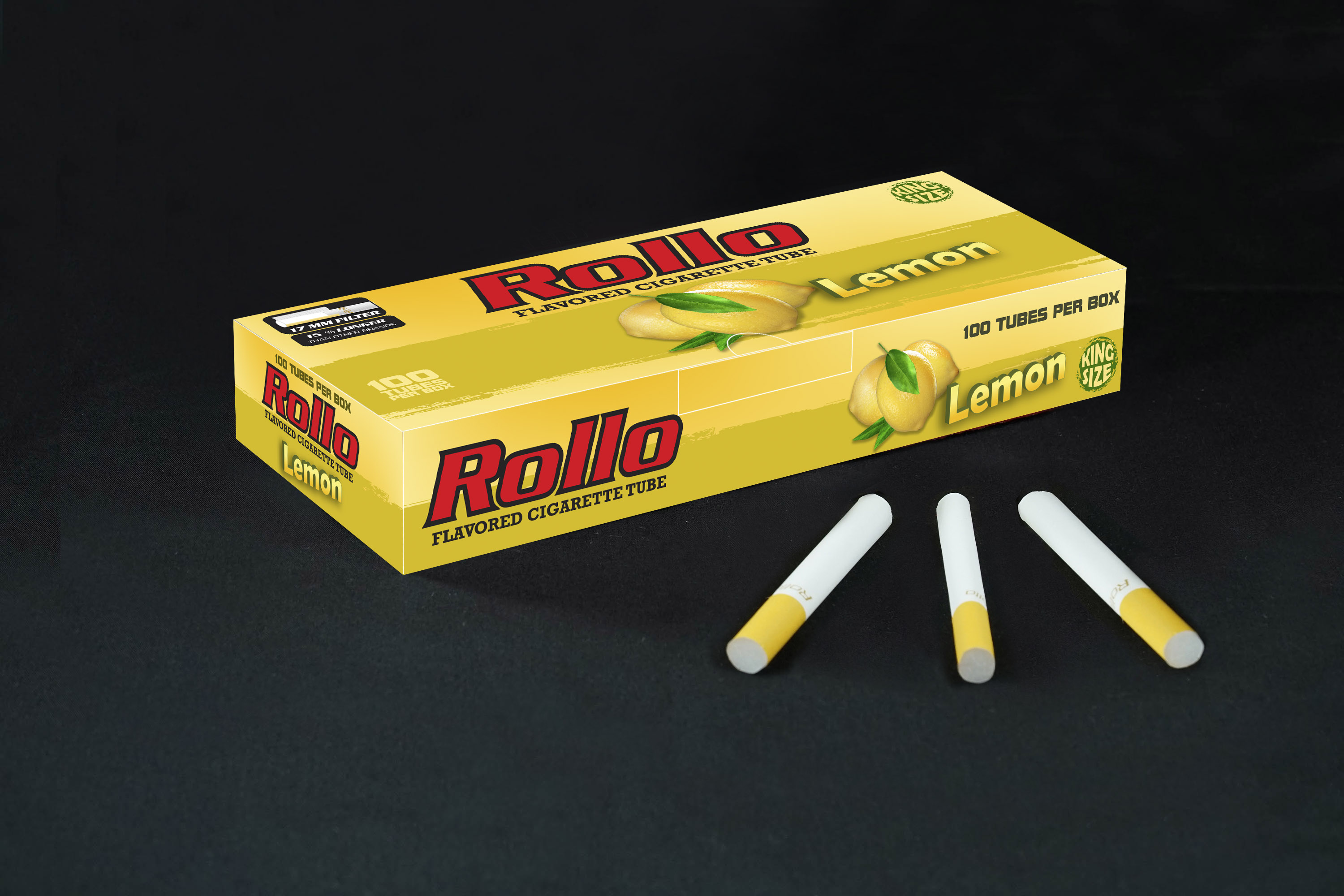 Flavoured Cigarette Tubes Rollo Lemon 100 CT
