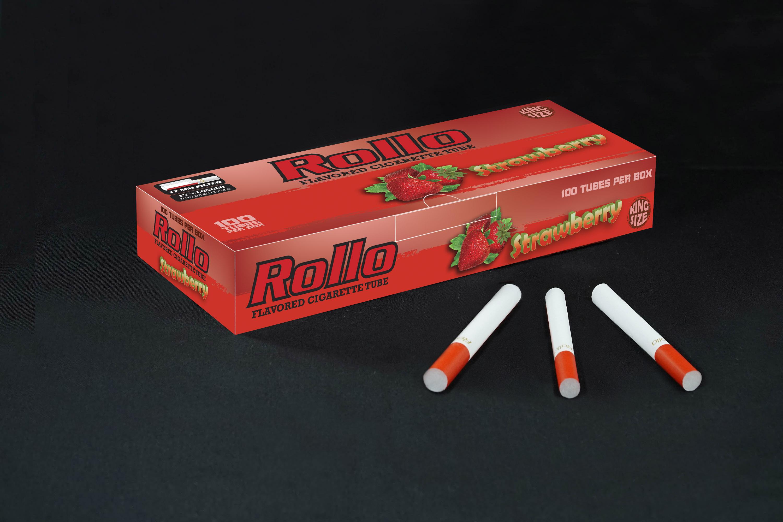 Flavoured Cigarette Tubes Rollo Strawberry 100 CT