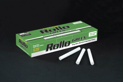 Menthol Cigarette Tubes Rollo Green 100 CT 25mm filter length
