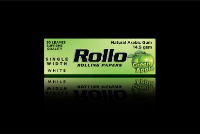 Rolling Papers, Green Apple, Single Width 36 x 70