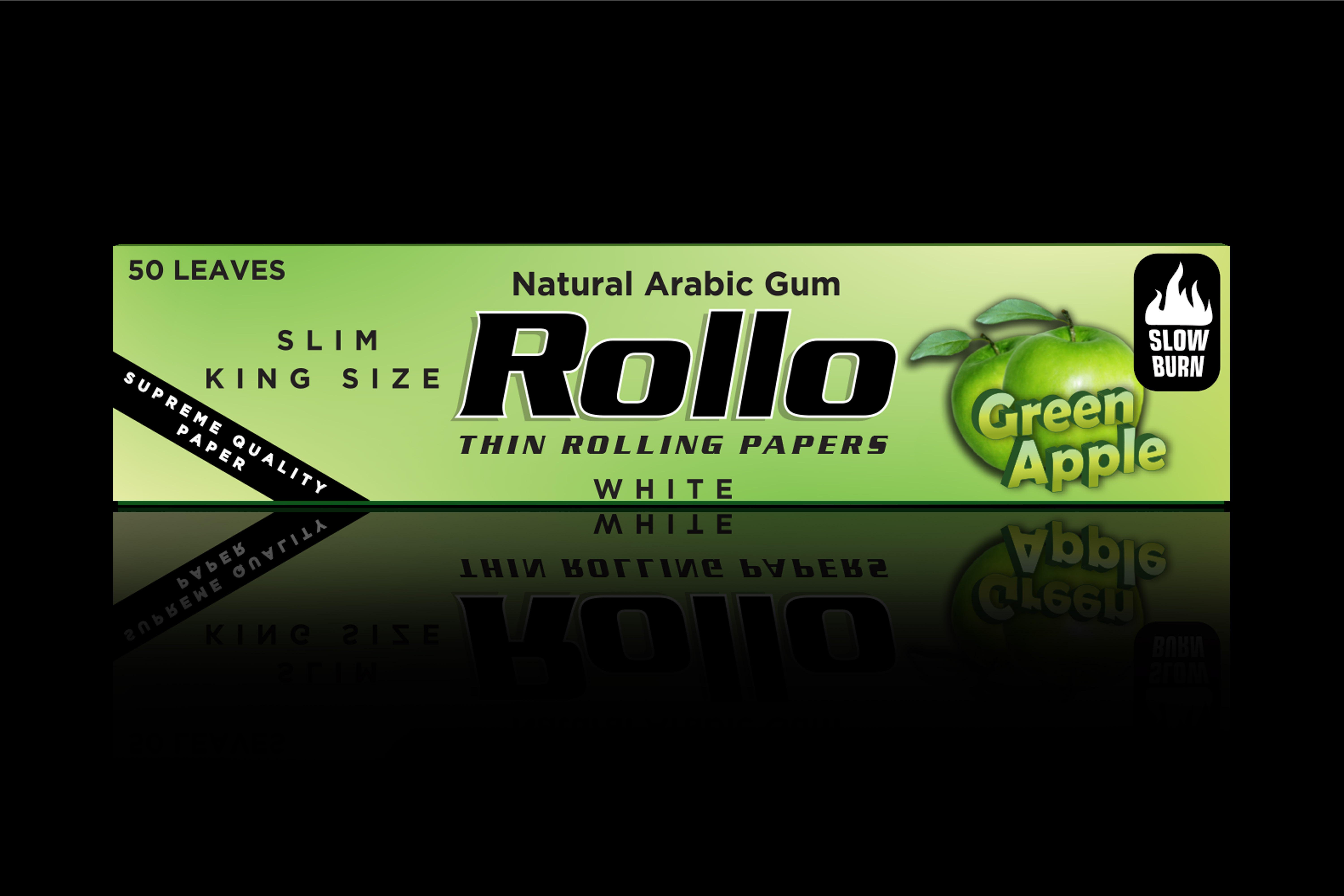 Rolling Papers, Green Apple, Slim King Size 44 x 110