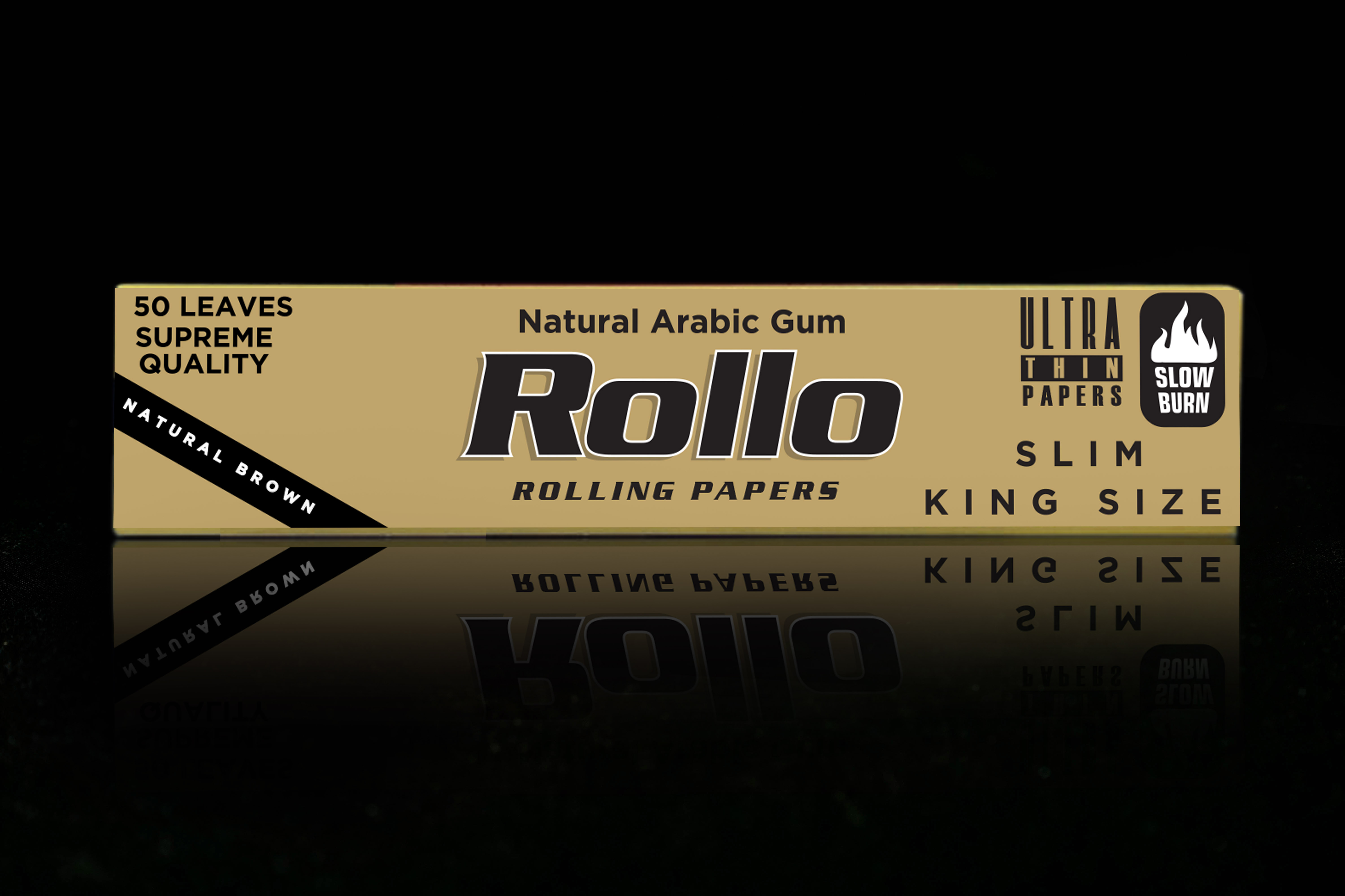 Rolling Papers, Natural Brown, Slim King Size 44 x 110