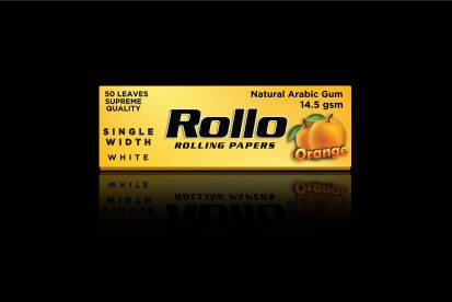 Rolling Papers, Orange, Single Width 36 x 70