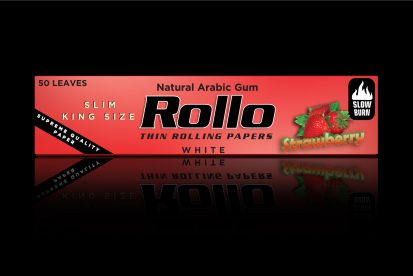 Rolling Papers, Strawberry, Slim King Size 44 x 110