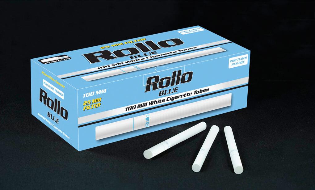 Cigarette Tubes 100mm Rollo Blue 200CT