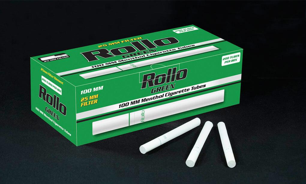 Menthol Cigarette Tubes 100mm Rollo Green 200 CT