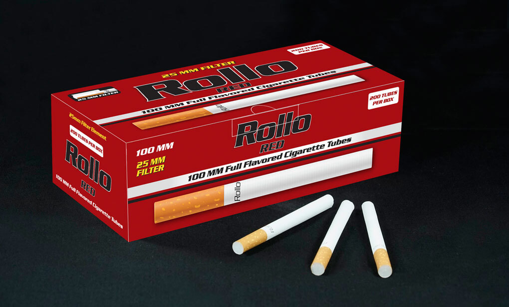 Cigarette Tubes 100mm Rollo Red 200ct