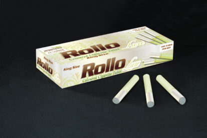 Green Cigarette Tubes with Pearl Tipping Paper Rollo Luxe Green 100 CT
