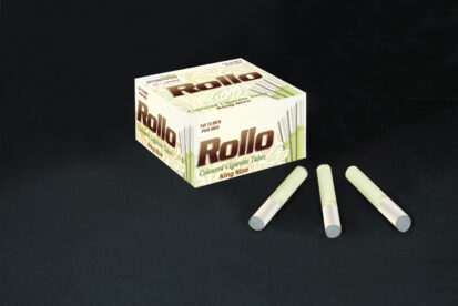 Green Cigarette Tubes with Pearl Tipping Paper Rollo Luxe Green 50 CT