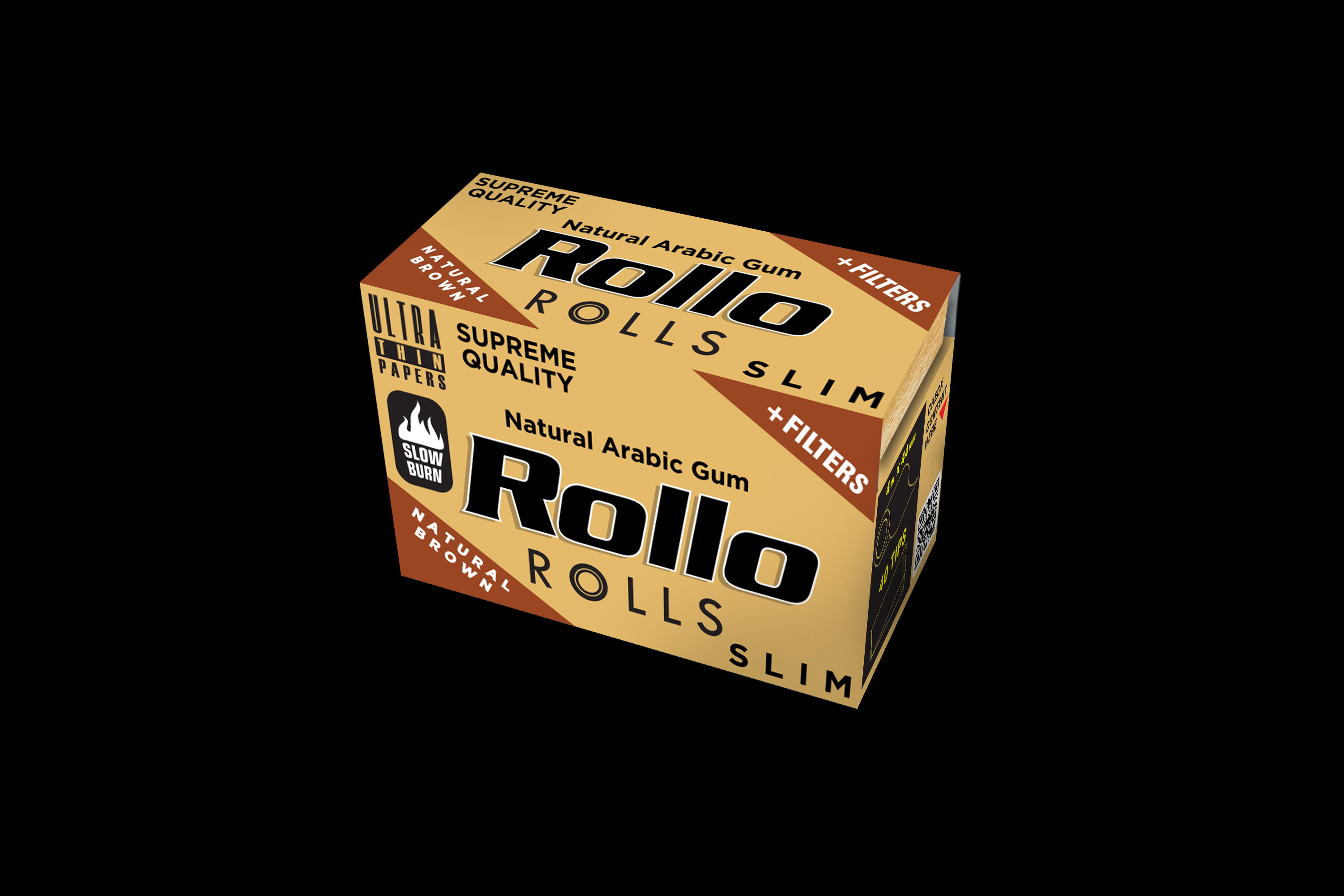 Rollo Natural Brown Rolls Slim 44mm
