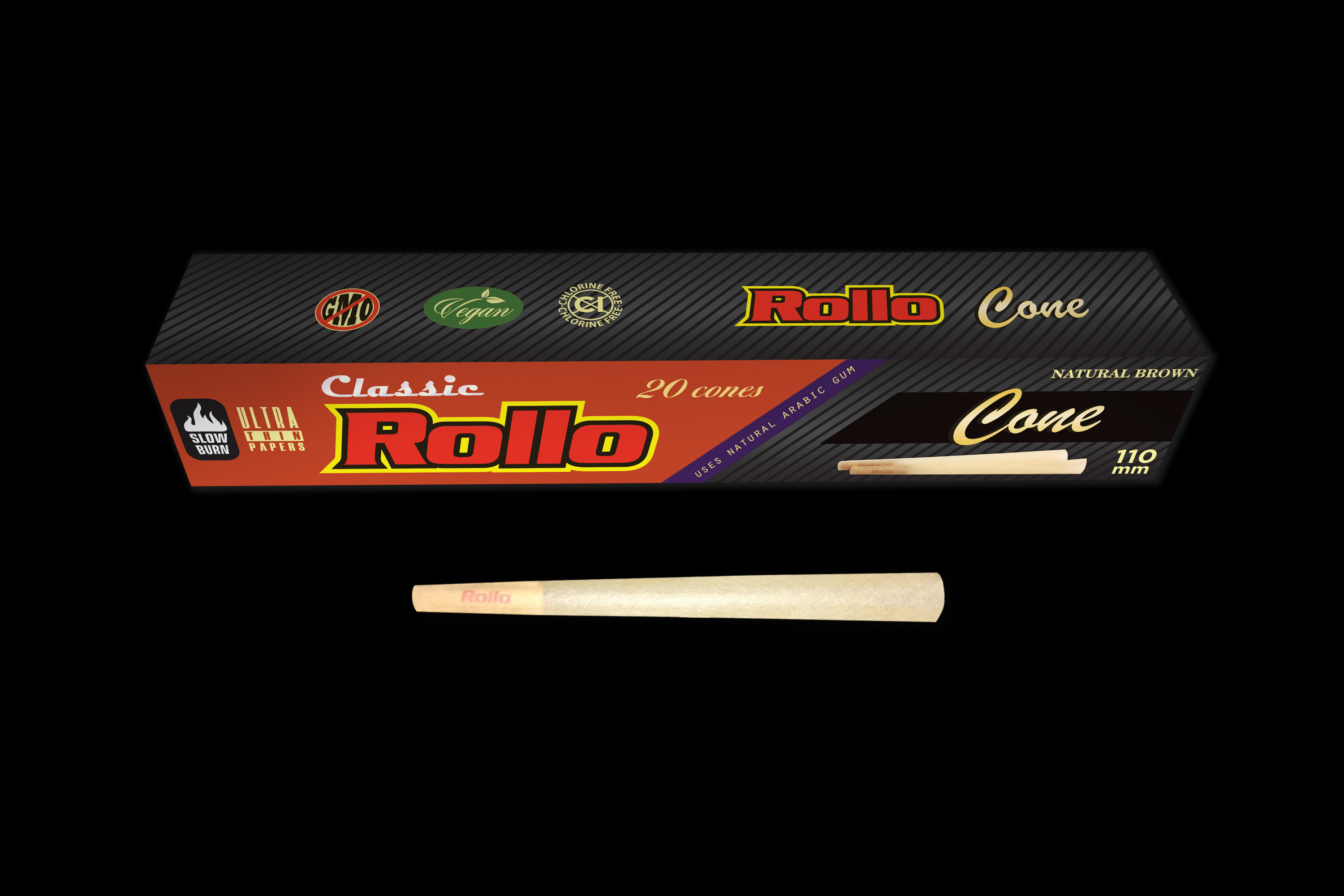 Rollo Natural Brown 110mm 20ct